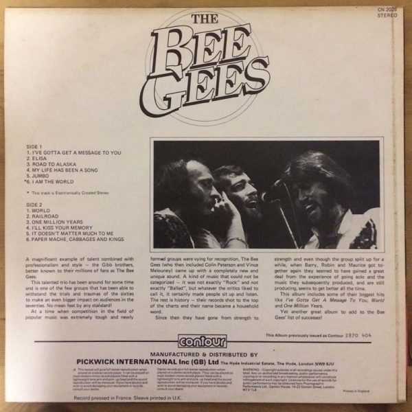 The Bee Gees – I've Gotta Get a Message to You (Plak – 2. El)