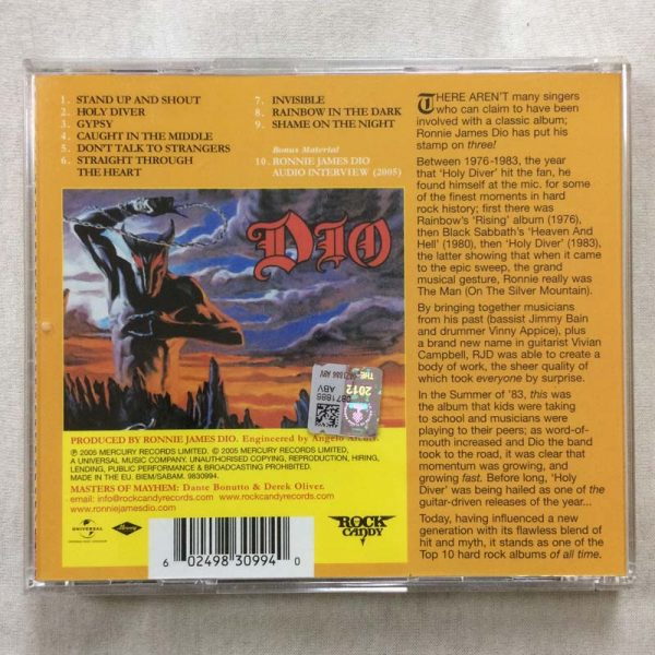 Dio – Holy Diver (CD – 2. El)