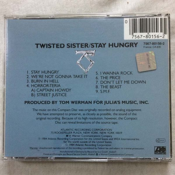Twisted Sister ‎– Stay Hungry (CD – 2. El)