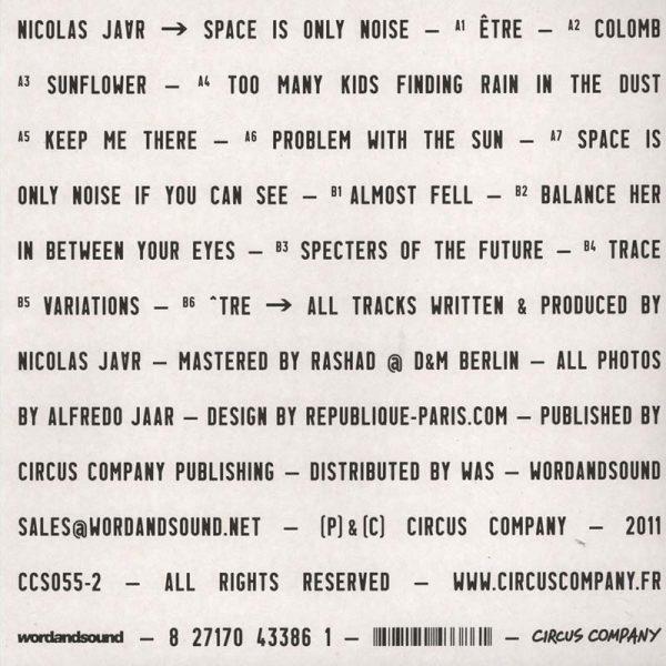 Nicolas Jaar – Space Is Only Noise (Plak)